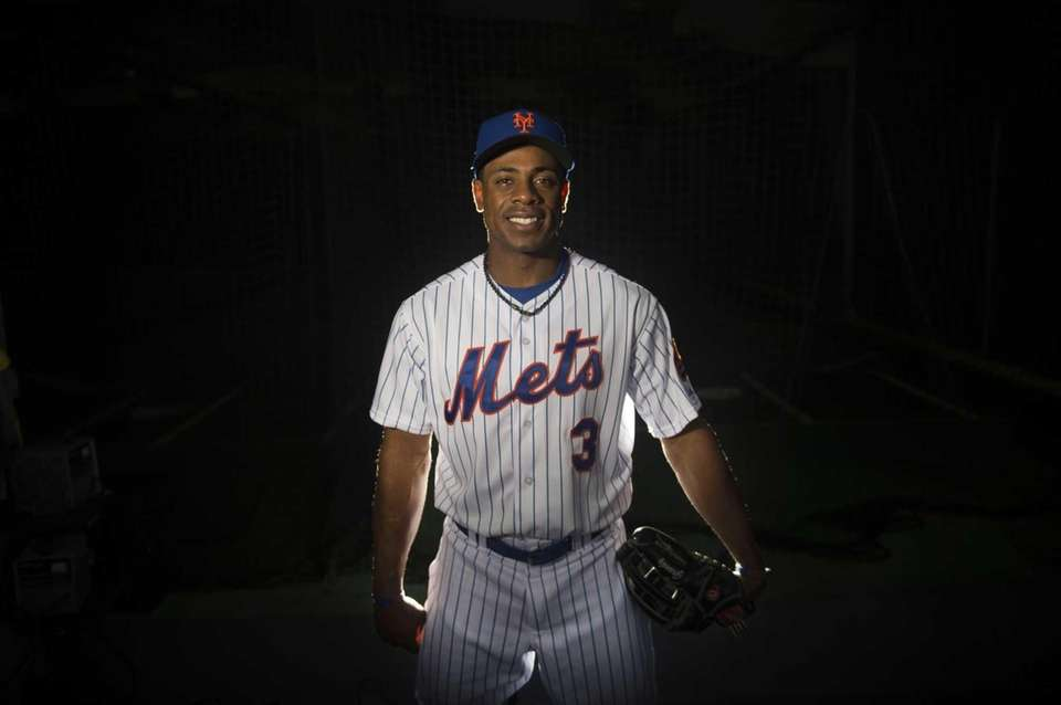 Mets outfielder Curtis Granderson is photographed during photo