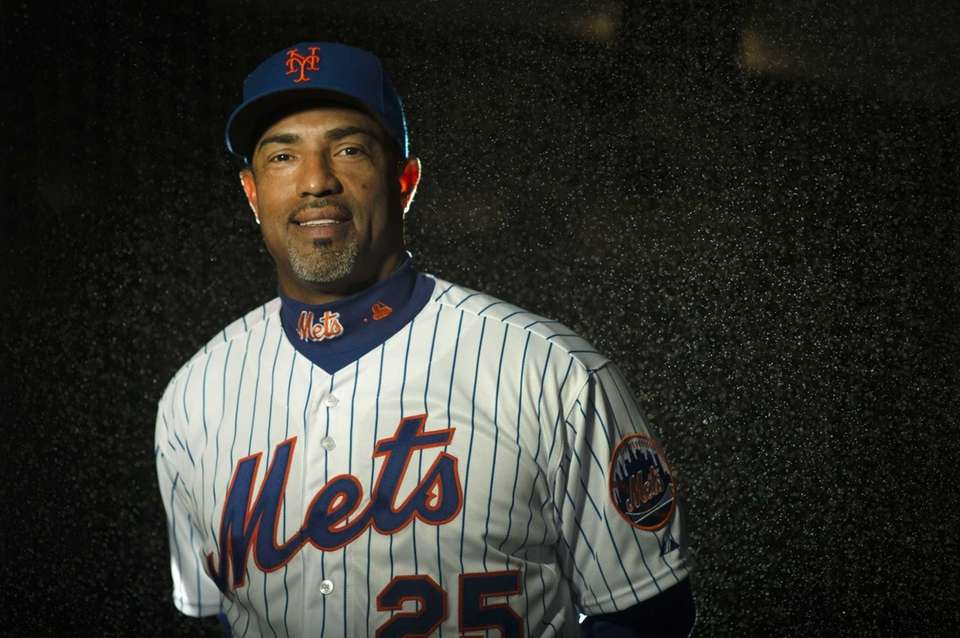 Mets bullpen coach Ricky Bones is photographed during