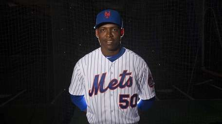 Mets pitcher Rafael Montero is photographed during photo