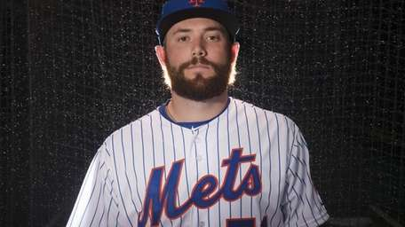 Mets pitcher Jack Leathersich is photographed during photo