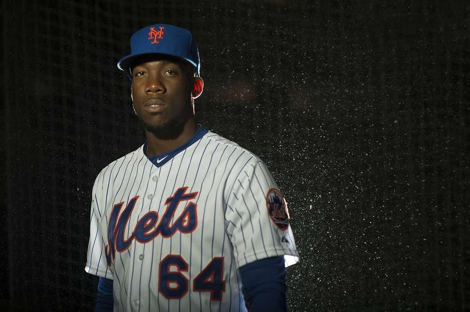 Mets pitcher Akeel Morris is photographed during photo