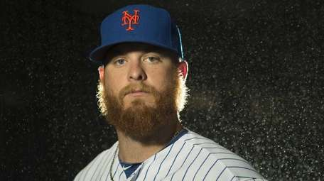 Mets pitcher Josh Edgin is photographed during photo