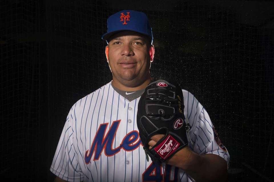 Mets pitcher Bartolo Colon is photographed during photo