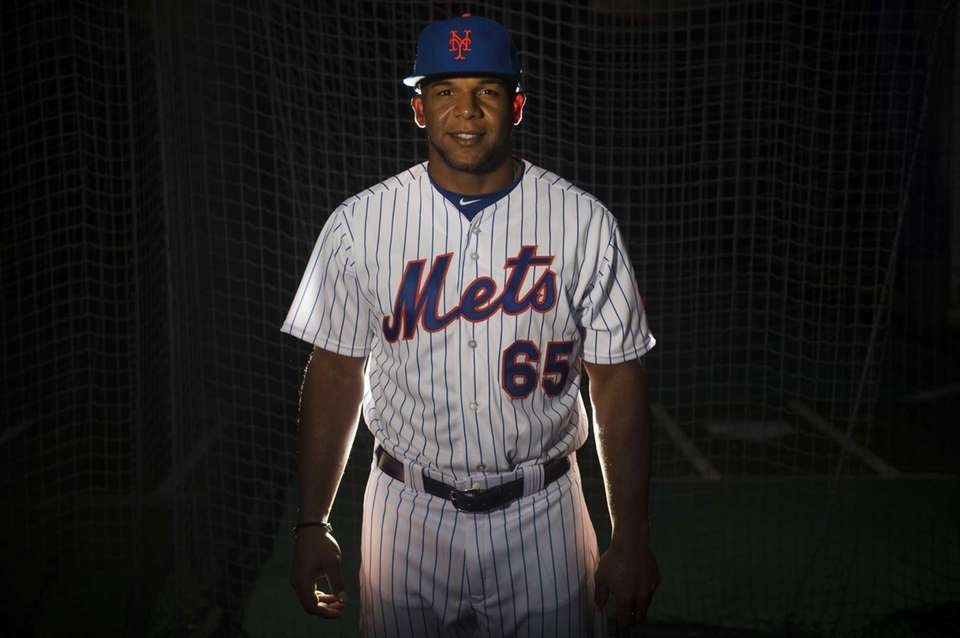 Mets outfielder Cesar Puello is photographed during photo