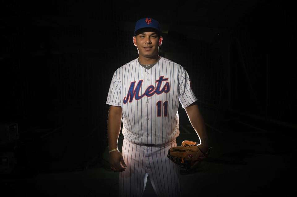 Mets infielder Ruben Tejada is photographed during photo