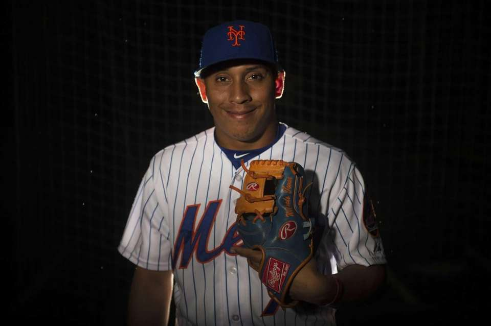 Mets infielder Wilfredo Tovar is photographed during photo