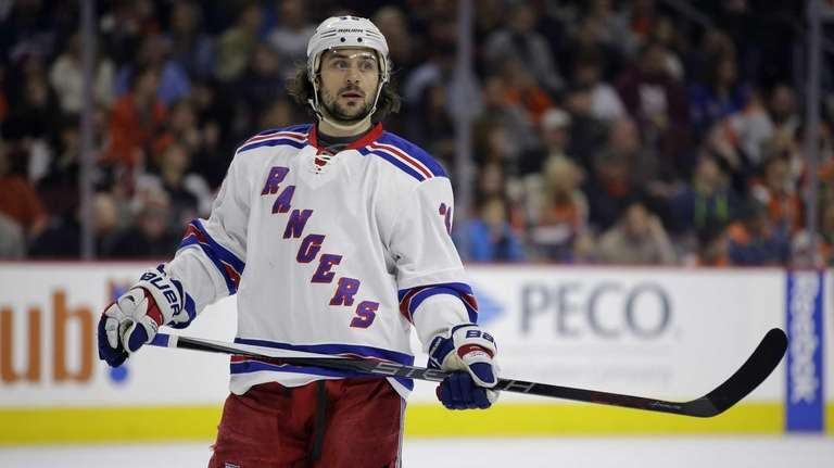 New York Rangers' Mats Zuccarello, of Norway, skates