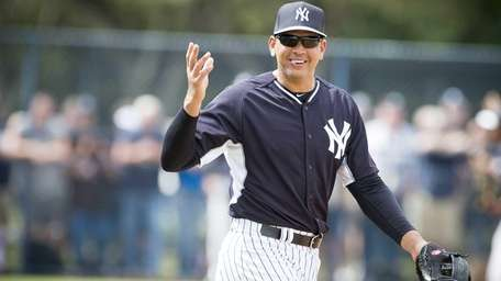 The Yankees' Alex Rodriguez at spring training at