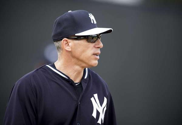 Yankees manager Joe Girardi looks on during spring