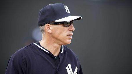 Yankees manager Joe Girardi looks on during spring