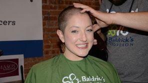 Kara Wissing, 23, of Sayville gets her head