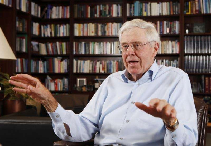 Charles Koch ties with his brother for sixth