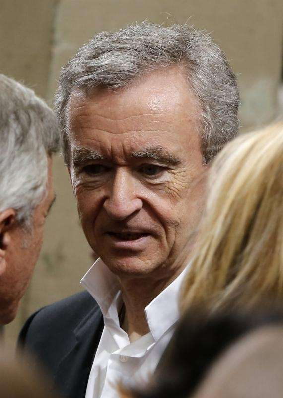 Louis Vuitton chairman and CEO Bernard Arnault is