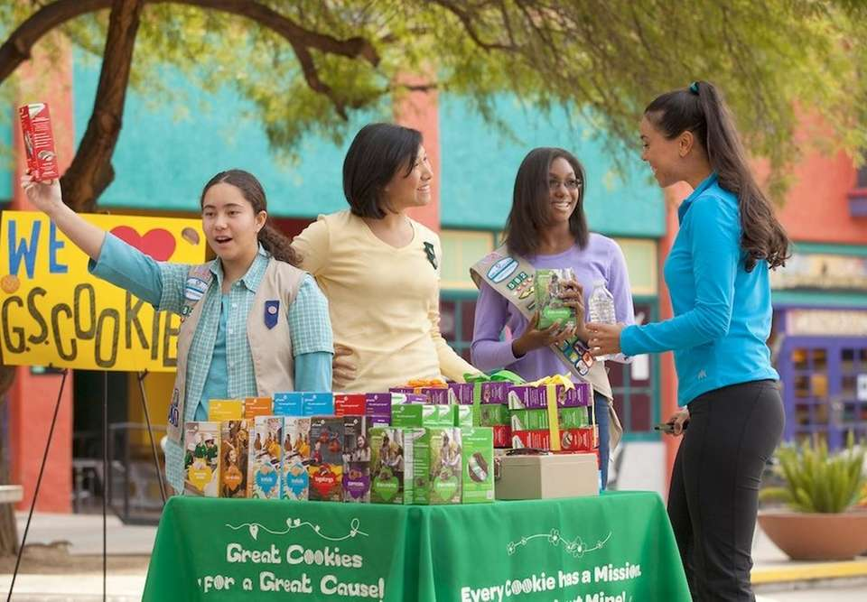 The first national Girl Scout Cookie sale